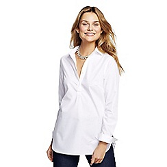 Lands' End - White women's supima non-iron tunic
