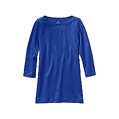 Lands' End - Blue women's regular starfish french terry boatneck tunic
