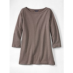 Lands' End - Beige women's petite starfish french terry boatneck tunic