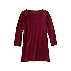 Lands' End - Red women's petite starfish french terry boatneck tunic