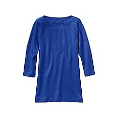 Lands' End - Blue women's petite starfish french terry boatneck tunic