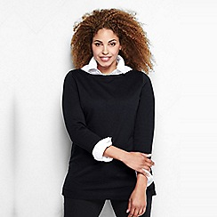 Lands' End - Black women's plus starfish french terry boatneck tunic