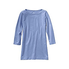Lands' End - Blue women's plus starfish french terry boatneck tunic