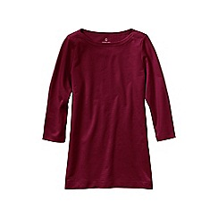 Lands' End - Red women's plus starfish french terry boatneck tunic