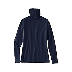 Lands' End - Blue women's tall fitted cotton/modal roll neck