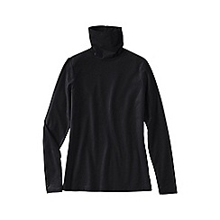 Lands' End - Black women's tall fitted cotton/modal roll neck