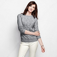 Lands' End - Grey women's drifter cable crew neck