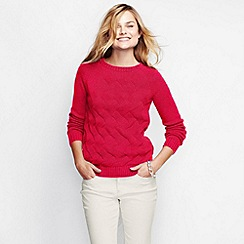 Lands' End - Red women's drifter cable crew neck
