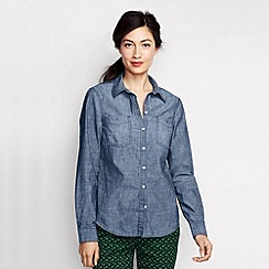 Lands' End - Blue women's chambray shirt