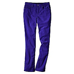 Lands' End - Purple women's mid rise straight leg cords
