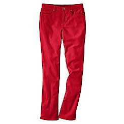 Lands' End - Red women's mid rise straight leg cords