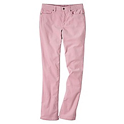 Lands' End - Pink women's mid rise straight leg cords