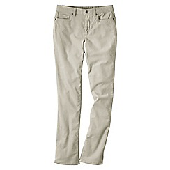 Lands' End - Cream women's mid rise straight leg cords