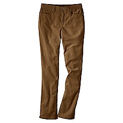 Lands' End - Brown women's mid rise straight leg cords