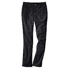 Lands' End - Black women's mid rise straight leg cords