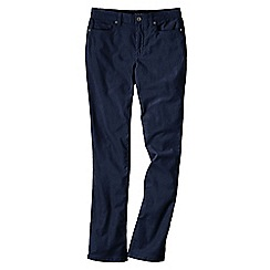 Lands' End - Blue women's mid rise straight leg cords