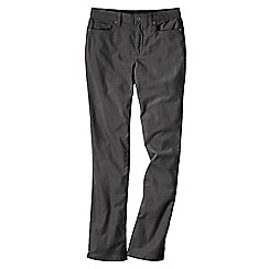 Lands' End - Grey women's mid rise straight leg cords