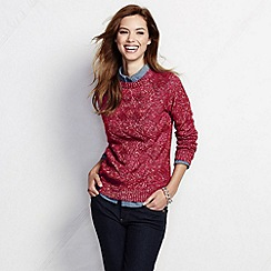 Lands' End - Red women's drifter marled basketweave jumper