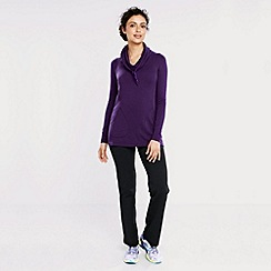 Lands' End - Purple women's soft-stretch cowl neck sweatshirt