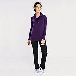 Lands' End - Purple women's soft-stretch cowl neck sweatshirt