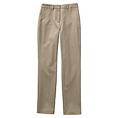 Lands' End - Beige women's mid rise straight leg chinos