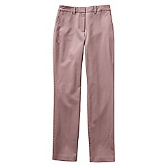 Lands' End - Pink women's mid rise straight leg chinos