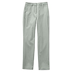 Lands' End - Green women's mid rise straight leg chinos