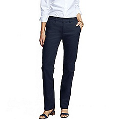 Lands' End - Blue women's mid rise straight leg chinos