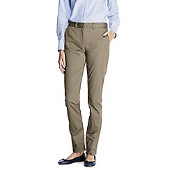 Lands' End - Beige petite mid rise straight leg chinos