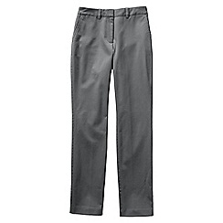 Lands' End - Grey women's plus mid rise straight leg chinos