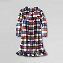 Lands' End - Multi girls' long sleeve flannel nightie