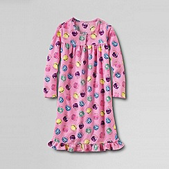 Lands' End - Pink girls' long sleeve flannel nightie