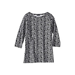 Lands' End - Multi women's petite three quarter sleeve starfish boatneck print tunic