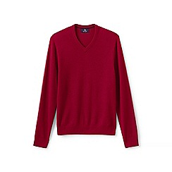 Lands' End - Red v-neck cashmere sweater
