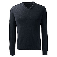 Lands' End - Black v-neck cashmere sweater