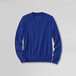 Lands' End - Blue men's v-neck cashmere sweater