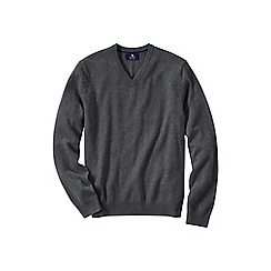 Lands' End - Grey men's v-neck cashmere sweater
