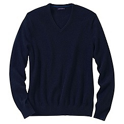 Lands' End - Blue men's v-neck cashmere sweater