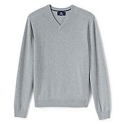 Lands' End - Grey v-neck cashmere sweater