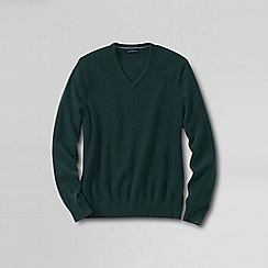Lands' End - Green men's v-neck cashmere sweater