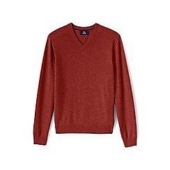 Lands' End - Orange v-neck cashmere sweater
