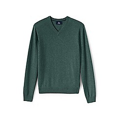 Lands' End - Green v-neck cashmere sweater