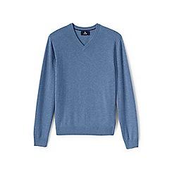 Lands' End - Blue v-neck cashmere sweater