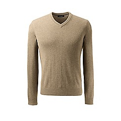 Lands' End - Brown v-neck cashmere sweater