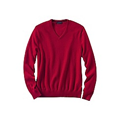 Lands' End - Red men's v-neck cashmere sweater