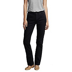 Lands' End - Black women's black mid rise straight leg jeans