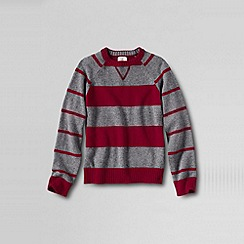 Lands' End - Multi boy's pattern block stripe crew neck jumper
