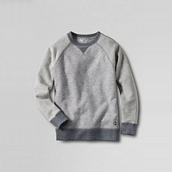 Lands' End - Grey little boys' colourblock sweatshirt