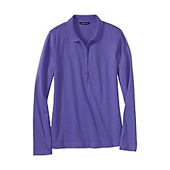 Lands' End - Purple women's slim fit long sleeve pima polo