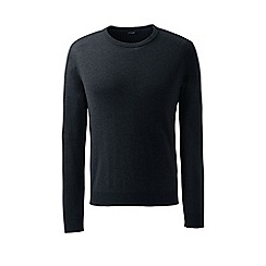 Lands' End - Black crew neck cashmere sweater